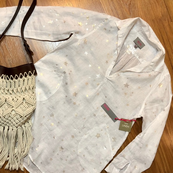 e1c0f461ec For Cynthia Tops | Nwt Forcynthia Beachwear Linen Tunic Cover Up ...